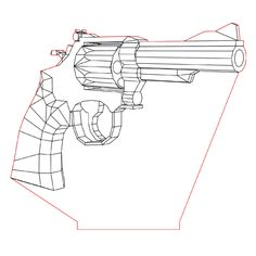 Smith & Wesson mag. 38 3d illusion lamp plan vector file for CNC - 3bee-studio