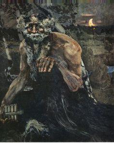 Mikhail Vrubel. Pan. 1899    Oil on canvas. 124*106 Tretyakov gallery
