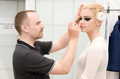 Backstage Beauty Report: The Punk Trend Continues at the Chanel Resort 2014 Show : Daily Beauty Reporter :  After last week's punk-themed Met Gala, the fashion world still smells like teen spirit. Case in point: Chanel's resort 2014 show. While the clothes were the antithesis of punk (pearls, tweed, cricket bats...you get the picture), it was the...