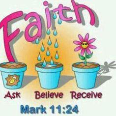 repent, ask, believe, receive