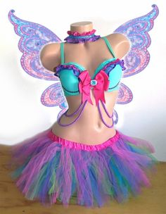 Fairy inspired Rave Outfit Bra, TuTu and Collar Fairy inspired Rave Outfit Bra, TuTu and Collar Rave Festival Outfits, Festival Costumes, Edm Festival, Festivals, Clubbing Outfits, Edm Outfits, Rave Party Outfit, Fairy Clothes, Cute Halloween Costumes