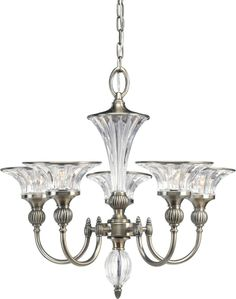 Roxbury Collection Classic Silver 5-light Chandelier