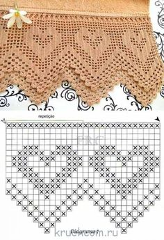 How to Crochet Wave Fan Edging Border Stitch Crochet Border Patterns, Crochet Bedspread Pattern, Crochet Slipper Pattern, Crochet Curtains, Granny Square Crochet Pattern, Motif Bikini Crochet, Crochet Lace Edging, Thread Crochet, Crochet Yarn