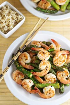 Shrimp and Asparagus Stir Fry with Lemon Sauce #15MinuteSuppers