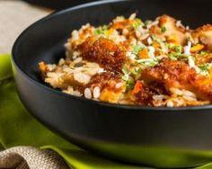 Khao Pad Kaï ou riz thaï au poulet pour utiliser les restes : http://www.fourchette-et-bikini.fr/recettes/recettes-minceur/khao-pad-kai-ou-riz-thai-au-poulet-pour-utiliser-les-restes.html