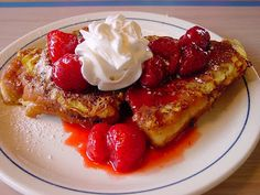 OMG... Strawberry Cheesecake Stuffed French Toast! The recipe looks very easy to do. Looking at the photo has my mouth suddenly turning on the waterworks and my tongue did the happy-happy joy-joy dance!