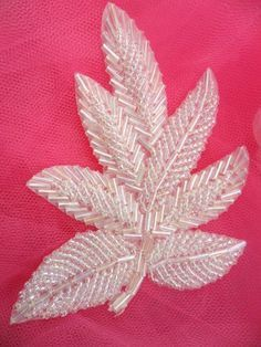 Leaf Applique Crystal Aurora Borealis Beaded Motif Patch Measures: x If you need more than what is listed please let us know and we will add more inventory.silk ribbon for embroidery suppliesGold, Black, Silver or White Beaded Appliques for Sale by G Pearl Embroidery, Bead Embroidery Patterns, Tambour Embroidery, Couture Embroidery, Paper Embroidery, Silk Ribbon Embroidery, Hand Embroidery Designs, Embroidery Kits, Beading Patterns