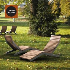 Téléchargez le catalogue et demandez les prix de Rivage | outdoor deck chair By mmcité1, bain de soleil / chaise d'extérieur en acier et bois design David Karasek, Radek Hegmon
