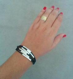 Men Leather Bracelet Mens Jewelry Brown Gift For Him Boyfriend Bracelets
