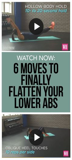 6 moves to FINALLY flatten your lower abs! These moves will help you get rid of the pooch for good!