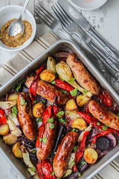 Sausage, Fennel and Pepper Roast | www.asaucykitchen.com