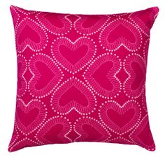 Heart Print Cushion in Pink Designed by by GraduateCollection