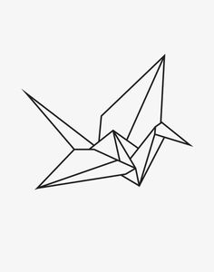 ideas origami crane tattoo paper birds for 2019 Origami Tattoo, Tattoo Paper, Paper Crane Tattoo, Crane Drawing, Origami Architecture, Geometric Drawing, Geometric Animal, Geometric Origami, Paper Birds