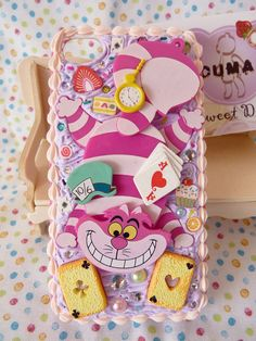 Kawaii Phone Case, Decoden Phone Case, Silicone Phone Case, Diy Phone Case, Cute Phone Cases, Iphone Cases, Unicorn Room Decor, Kawaii Bedroom, Alice