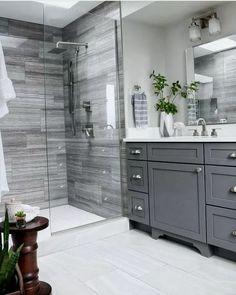bathroom, bathroom decor, master bathroom some ideas, bathroom remodel, master b. Bathroom Vanity Designs, Bathroom Layout, Bathroom Interior Design, Bathroom Ideas, Bathroom Cabinets, Bathroom Vanities, Gray Cabinets, Shower Bathroom, Shower Floor