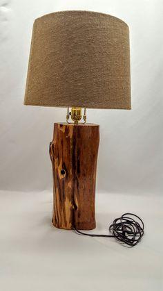 Lampada Red Cedar Log di ReedMade su Etsy