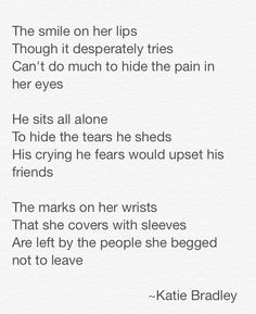 My most recent poem, in honor of Self-Harm Awareness Day.  I've never been a cutter, but I've been depressed, and I'm here for my friends who do or have cut.