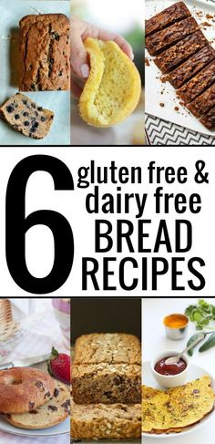 Gluten free and dairy free bread recipes can be made at home, easily! Looking for an allergy friendly bread recipe that actually tastes good? Here's a delicious round up of 6 healthy gluten free and dairy free bread recipes, plus a recipe for gluten free Gluten Free Dairy Free Bread Recipe, Healthy Gluten Free Bread, Foods With Gluten, Gluten Free Baking, Dairy Free Recipes, Paleo, Baking Recipes, Vegan Bread, Gf Recipes