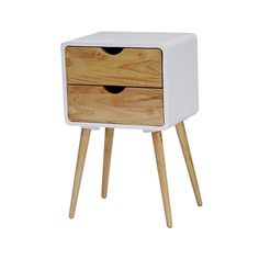 Found it at AllModern - Euro 2 Drawers End Table