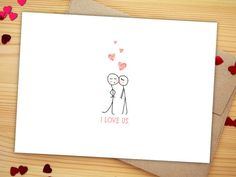Cute Love Card Cute Anniversary Card for Wife Gift for