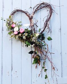 A silver birch heart dressed with seasonal spring flowers and foliage for an April wedding. by Tuckshop Flowers, Birmingham wedding fall ideas / april wedding / wedding color pallets / fall wedding schemes / fall wedding colors november Wedding Wreaths, Diy Wedding, Wedding Decorations, Spring Decorations, Wedding Heart Wreath, Twig Wedding Centerpieces, Garden Wedding, Rustic Wedding, Birch Wedding