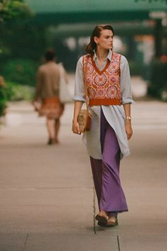 Maeve Jacquard Sweater Vest | Anthropologie Knit Vest, Crochet Cardigan, Irish Warrior, Warrior Queen, Baby Girl Crochet Blanket, 50 Fashion, Fall Looks, Wide Leg Pants, Cool Outfits