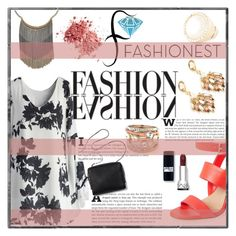 """""""Fashionest: Trendy Fashion Jewelry"""" by pattyboombr ❤ liked on Polyvore featuring Chicwish, BCBGMAXAZRIA and fashionest"""