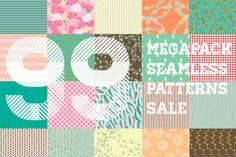 Check out 70%off - Megapack patterns by Julia's Design on Creative Market