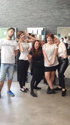 Hair team in London for a day training with Luke from the art team. Fab day!