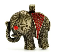 Lg Elephant Pendant ~ Red. Starting at $4 on Tophatter.com!