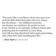 Beau Taplin | Libraries