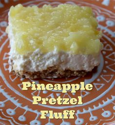Pineapple Pretzel Fluff from Living on Cloud Nine is the most clicked recipe at Weekend Potluck #226. The perfect dessert to serve at all the BBQ's this summer. www.thecountrycook.net
