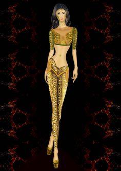 fashion sketch snake leather