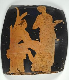 Eleusinian Painter, Vase Fragment, mid-4th century BC. Mildred Lane Kemper Art Museum, Washington University in St. Louis.