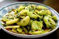 Азиатский салат из огурца
