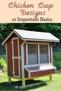 When choosing among chicken coop designs, consider these important basics #portablechickencoops