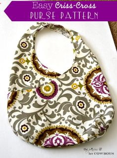 Easy Criss-Cross Purse Pattern