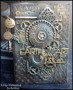 Een van de leukste dingen om te pimpen vind ik toch wel van die notitieboekjes die je overal wel kunt kopen. Dit keer zijn onze embellishme...