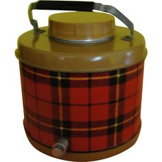 On the Go Red Plaid Picnic Jug Cooler - g