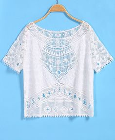 Vintage Hollow Lace Crop Vest