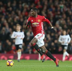 Paul Pogba of Manchester United in action during the Premier League match between Manchester United and Tottenham Hotspur at Old Trafford on December...