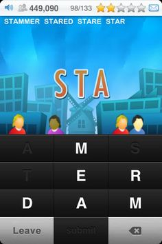 Textropolis ($0.00) Travel word-wide and build up your Textropolis by finding the words hidden in each city. Play through 30 different cities in this free-play word discovery game. Stumble across a new word? Textropolis includes definitions for every word in the game. Watch each city grow as you discover its words and add to your total Textropolis population! Shake your phone or iPod to get a helpful hint when you are stuck, and you can even send postcards from your best cities.