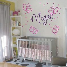 Butterfly Trail Wall Decals so cute nor your nursery room only from Trendy Wall Designs.