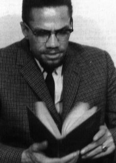 """""""I could spend the rest of my life reading, just satisfying my curiosity--because you can hardly mention anything I'm not curious about."""" ~Malcolm X Malcolm X, Celebrities Reading, Human Rights Activists, Drum Major, By Any Means Necessary, Actors, Civil Rights, Black People, Books To Read"""