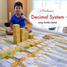Montessori Decimal System (Base 10) with Golden Beads