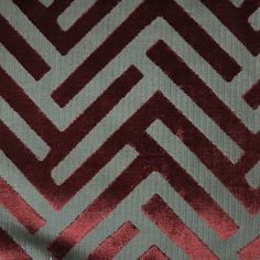 Ministry Geometric Pattern Cut Velvet Upholstery Fabric By The Yard Available In 10 Colors