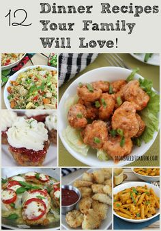 """It is so easy to fall it to a """"rut"""" of recycling the same dinner recipes each week. Here are 12 quick dinner recipes that you can add to your rotation!"""