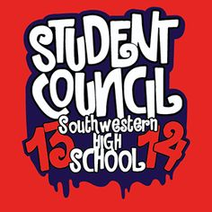 Student Council Stuco High School T Shirt Design High Schoolers