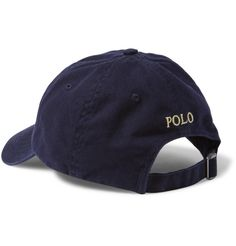 Baseball caps are a streetwear essential, and <a href='http://www.mrporter.com/mens/Designers/Polo_Ralph_Lauren'>Polo Ralph Lauren</a>'s version is a sound investment. This navy cotton-twill design is detailed with an adjustable strap, aerating eyelets and the label's signature embroidered emblem in yellow.