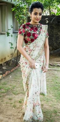 Trisha Bollywood Designer Beautiful Sarees Bollywood Sarees Online on Shimply.com